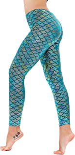 Diamond keep it Women's Mermaid Fish Scale Printing Full Length Leggings