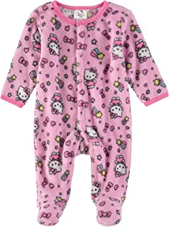 Hello Kitty Infant Baby Girls Fleece Footies
