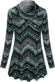 ad7f922809e Miusey Womens Long Sleeve Cowl Neck Pullover Sweatshirt Casual Tunic Tops