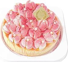 ランジェラ 冷凍生ケーキ メルティーローズ ベイクドチーズケーキ 4号 5号 (デコレーションケーキ チーズケーキ 誕生日ケーキ バラのケーキ 薔薇) (5号)