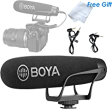 BOYA BY-BM2021 Shotgun Video Microphone, Cardiod Microphone Condenser Mic Vdeomicro, w/ Shock Mount Windscreen TRRS TRS, Compatible with Andoid Smartphones, Canon Nikon Sony Panasonic Camera Camcorder