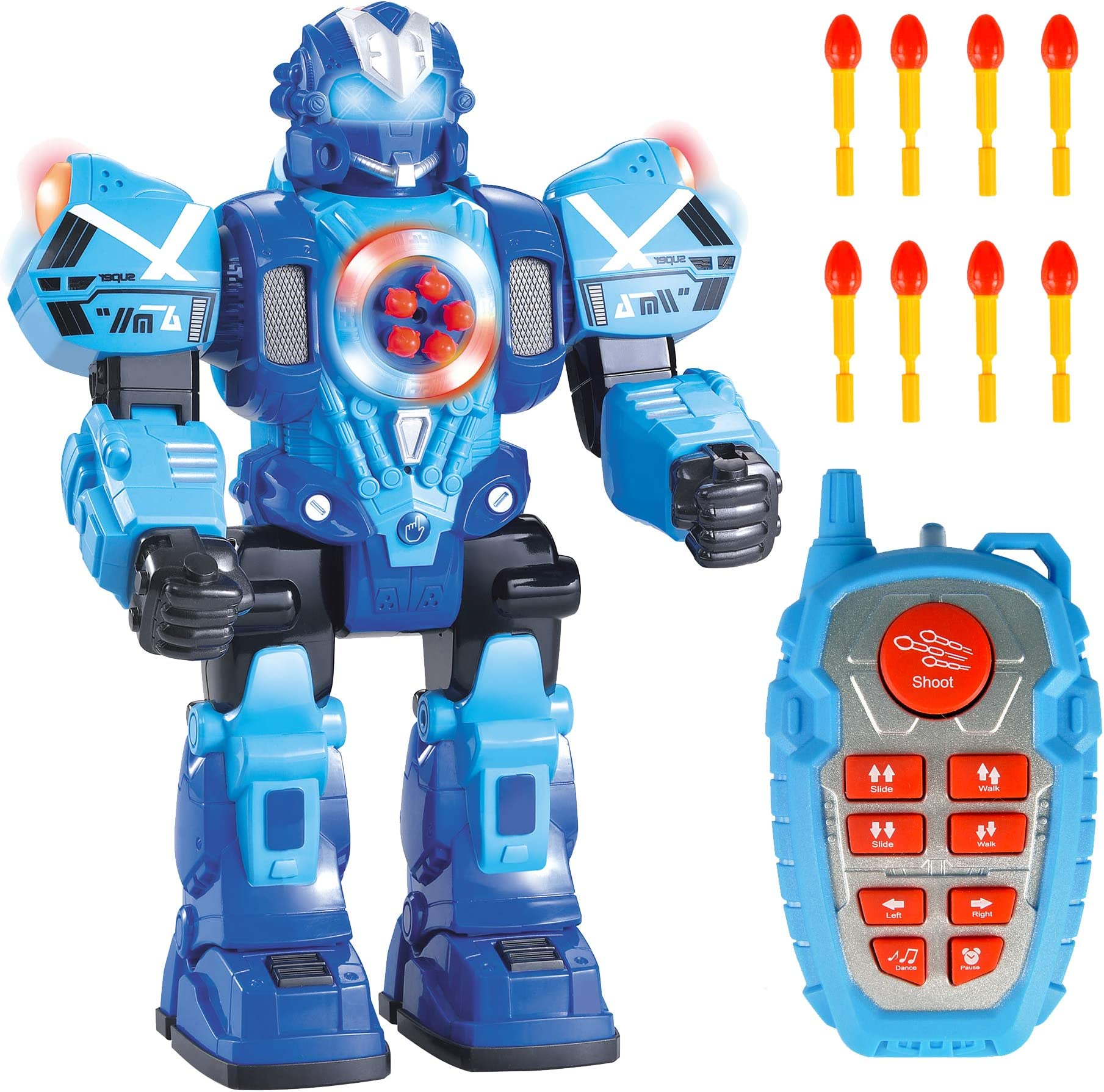 RC Police Robot with Flashing Lights /& Sound 10CH New