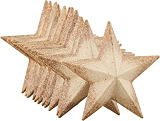 Unfinished Wood Half 3D Stars - 12-Pack Flat 3D Wood Stars, Wood Cutouts, Star Shaped Wood Pieces, for Craft DIY Classroom Projects, Christmas Tree, Party, Home Decoration, 2.9 x 2.9 x 0.5 Inches