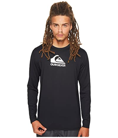 Quiksilver Solid Streak Long Sleeve Rashguard (Black) Men