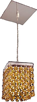 Classic Lighting 16101 SLT Bedazzle, Crystal, Light Pendant, Chrome