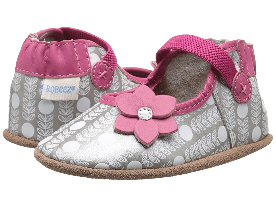 Robeez Becca Mary Jane Soft Sole (Infant/Toddler) (Grey) Girls Shoes