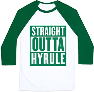 Straight Outta Hyrule Mens/Unisex Baseball Tee