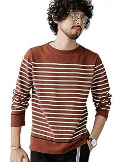 [ナノユニバース] Tシャツ アメリカン コットン リブ ボートネック バスク Tシャツ L/S メンズ