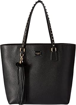 Black Leather Glam Shopper