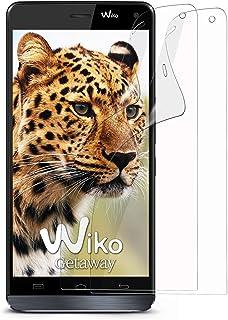 MoEx klar skyddsfolie för Wiko Getaway, 2 x Stück, transparent