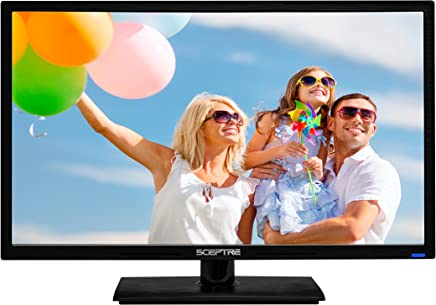 "Sceptre E246BV-FC 24"" LED HDTV Display 1920x1080 Full HD HDMI VGA USB, True Black (2017)"