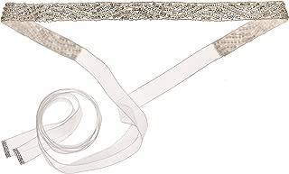 Nina Women's Pazely Art Deco Organza Bridal Belt