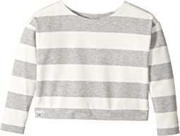 Striped Ponte Top (Little Kids)