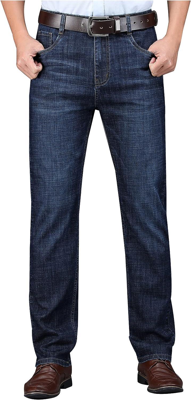 JiaYou Men Mid Waist Standard Super-cheap Fit Length Summe Light Full Daily bargain sale Washed