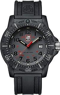 ساعة لومينوكس البحرية ختم للرجال شاشة رمادية (سلسلة XL.8882.F / 8880): مقاومة للماء 200 متر + كريستال الياقوت + وضوح ليلي ...