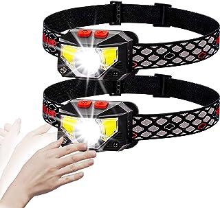 Briignite Headlamp Flashlight, USB Rechargeable LED Motion Sensor Headlights with Red Light, 8 Modes Waterproof Head Lamp ...
