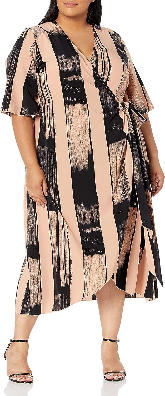 Seven7 Melissa McCarthy Women's Plus Size Wrap Dress