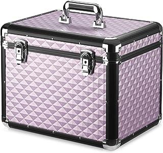 Navaris verzorgingsbox voor paarden - Lichtgewicht aluminium - Afsluitbaar met 2 sleutels - Roze - Poetskist voor paard en...