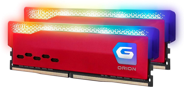 Ranking TOP17 GeIL Orion RGB DDR4 RAM 16GB 3600MHz Jacksonville Mall XMP2.0 Inte 8GBx2 1.35V