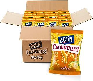 Belin - Croustilles Fromage - Goût Emmental - Format Pocket - Pack de 30 sachets (35 g)