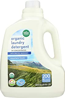 Whole Foods Market, Organic Laundry Detergent 3X Concentrated, Mountain Fresh, 200 fl oz