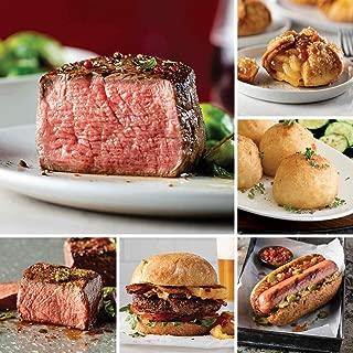 Omaha Steaks Omaha's Premier Package (24-Piece with Filet Mignons, Top Sirloins, Burgers, Gourmet Jumbo Franks, Potatoes au Gratin, Caramel Apple Tartlets)