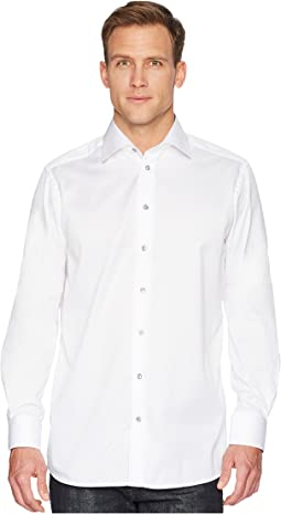 Contemporary Fit Twill Shirt w/ Grey Button