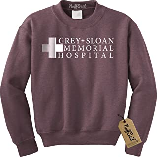 NuffSaid Grey Sloan Memorial Hospital Sweatshirt Sweater Crew Neck Pullover - Premium Quality