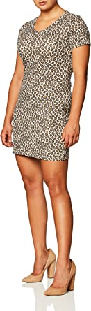 Touched by Nature Women's Organic Cotton Dress, Leopard Long Sleeve