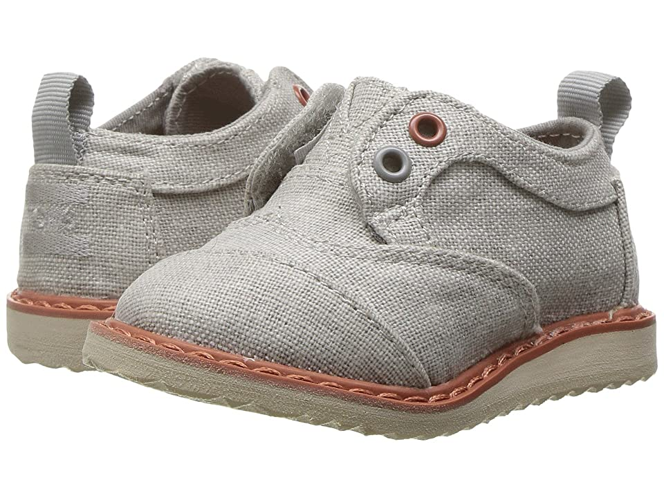TOMS Kids Brogue Dress (Infant/Toddler/Little Kid) (Drizzle Grey Coated Linen) Boys Shoes
