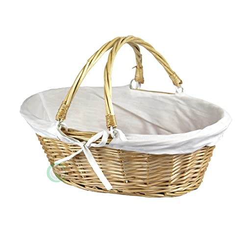 13abb2232c64 WF Oval Willow Basket with Double Drop Down Handles