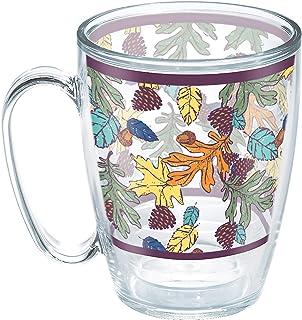Tervis Fiesta Insulated Tumbler, 16oz Mug - Tritan - No Lid, Butterscotch Fall Leaves