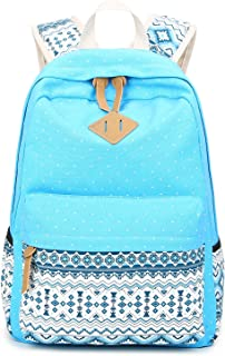Abshoo Cute Lightweight Canvas Bookbags School Backpacks for Teen Girls (Sky Blue)