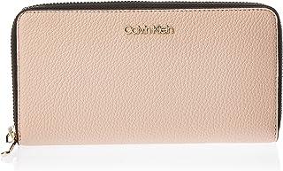 Calvin Klein Zip Around Wallet for Women-Nude