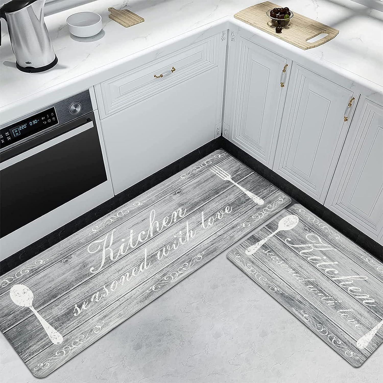 Buy Pauwer Anti Fatigue Kitchen Mat Set of 9 Cushioned Kitchen ...