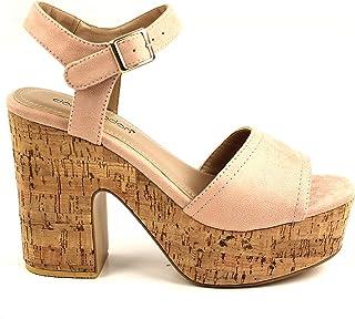 Don algodón ZKV8604012036, Zapato Sandalia tacón y Plataforma para Mujer
