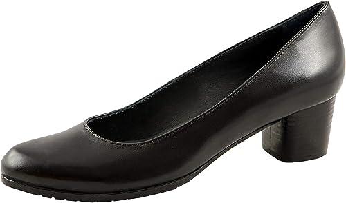 Marc, Chaussures de Ville à Lacets pour Femme Noir Noir