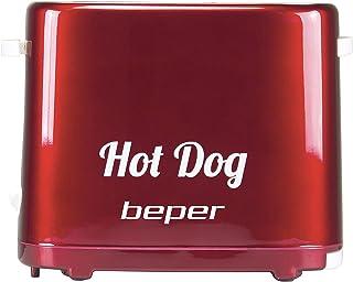 BEPER Macchina, Hot dog, 750 W, Plastica, Rosso