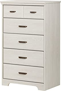 South Shore Versa Collection 5-Drawer Dresser, Winter Oak with Antique Handles