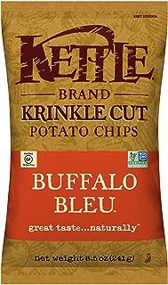 Kettle Brand Potato Chips, Krinkle Cut Buffalo Bleu, 8.5 Ounce