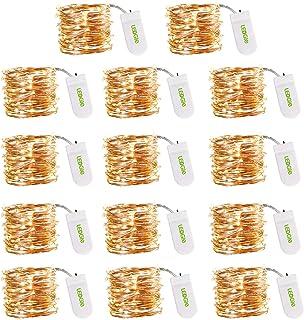 LEDGLE Guirlandes Lumineuses, Intérieur Girlande de Lumière, LED à Piles pour Interieur, 3m 30LEDS Chambre Mariage Fête, F...