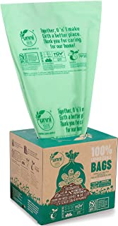 UNNI ASTM D6400 100% Compostable Trash Bags, 4 Gallon, 15 Liter, 200 Count, Extra Thick 0.75 Mils, Small Garbage Bags,Wast...