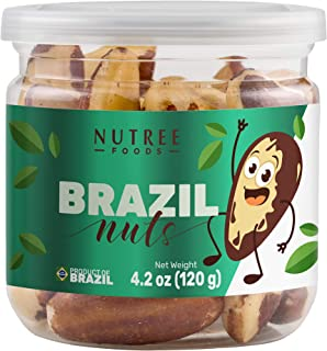 Premium Raw Brazil Nuts Natural Whole Unsalted Shelled Organic Superfoods Best Fresh Natural Snacks (4.2 oz | 120 gr)
