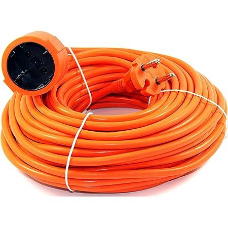 Verlängerungskabel 20m Orange Verlängerung Kabel Stromkabel Garten Strom 577 Garten
