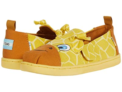 TOMS Kids Alpargata Twin Gore (Toddler/Little Kid) (Lemonade Savanna Giraffe Face) Kid