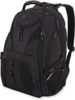 SWISSGEAR 1900 ScanSmart TSA Laptop Backpack- Black/Black