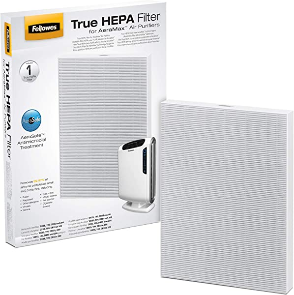 Fellowes 0 True HEPA Filter With AeraSafe Antimicrobial Treatment White