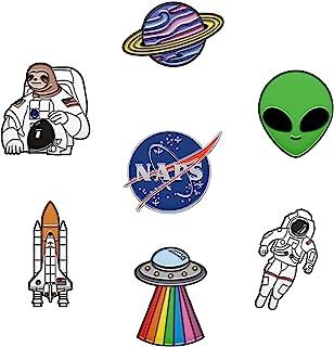 RipDesigns - 7 Space Pins for Backpacks   Enamel Pins for Jackets Cute Pins for Backpacks Planet Pins, Nasa Pin & Astronau...