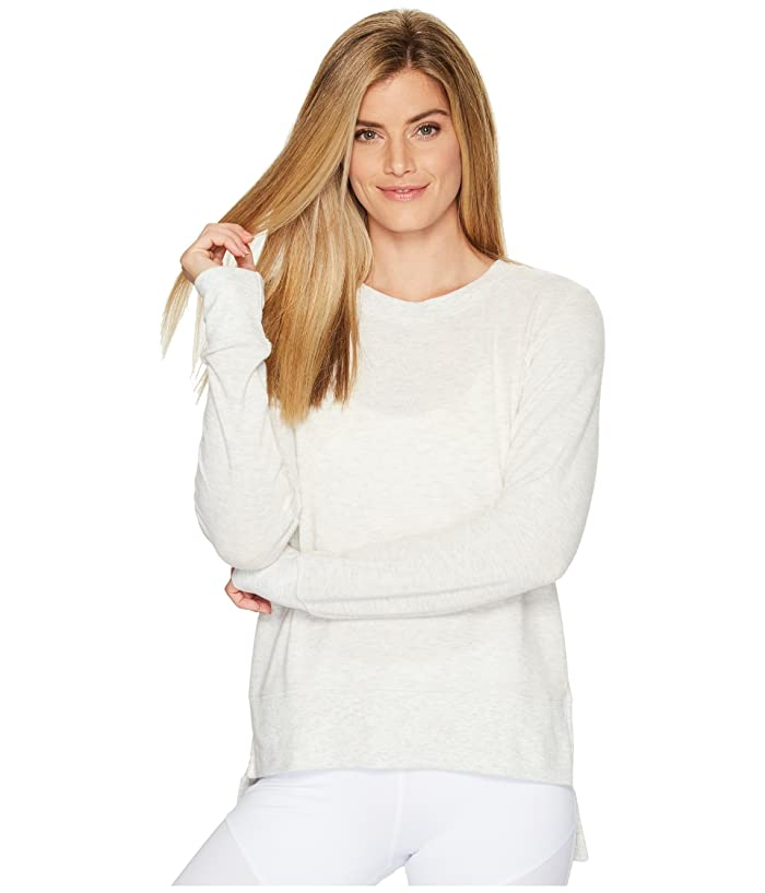 ALO Glimpse Long Sleeve Top (White Heather) Women