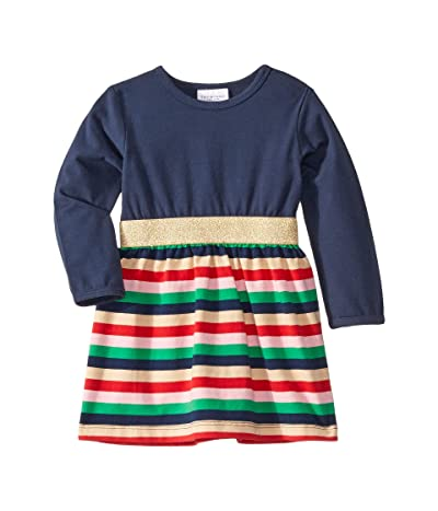 Toobydoo Party Dress (Infant/Toddler) (Navy Striped) Girl